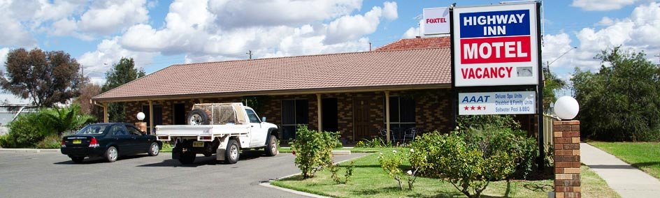 The Highway Inn Motel is AAA rated 3½ stars conveniently situated on the Mid Western Highway